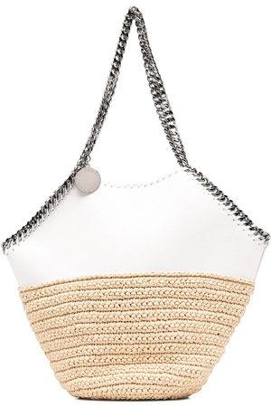 Stella McCartney Women Shoulder Bags - Falabella panelled straw shoulder bag