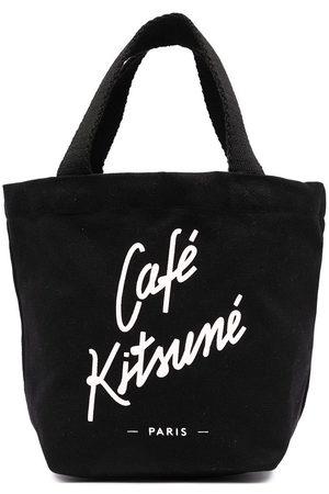 Maison Kitsuné Women Handbags - Logo print tote bag