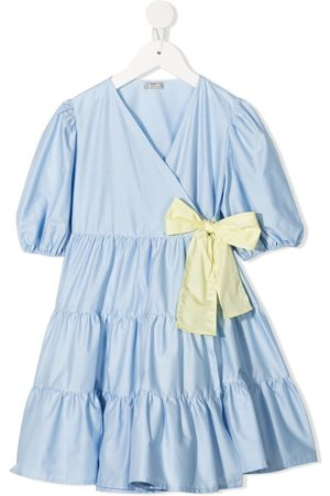 Il gufo Short-sleeved tiered dress