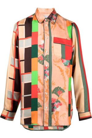 PIERRE-LOUIS MASCIA Patchwork print shirt
