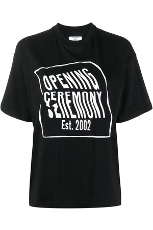 Opening Ceremony Women Short Sleeve - Logo-print cotton T-shirt
