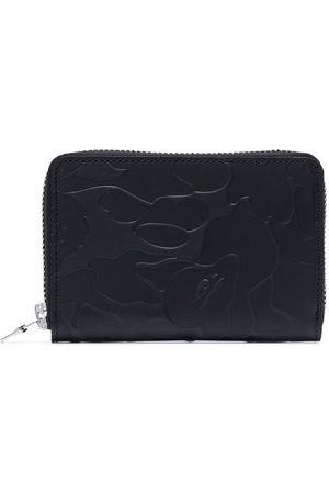 A Bathing Ape Camouflage-motif leather cardholder