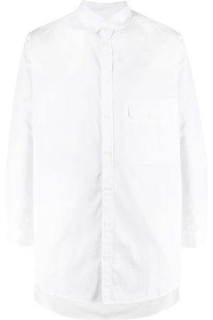YOHJI YAMAMOTO Men Long Sleeve - Flap pocket long-length shirt