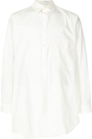 YOHJI YAMAMOTO Men Long Sleeve - Flap-pocket asymmetric shirt