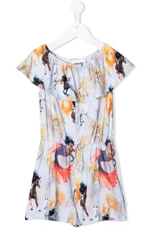 Molo Girls Playsuits - Horses of the Sea print playsuit