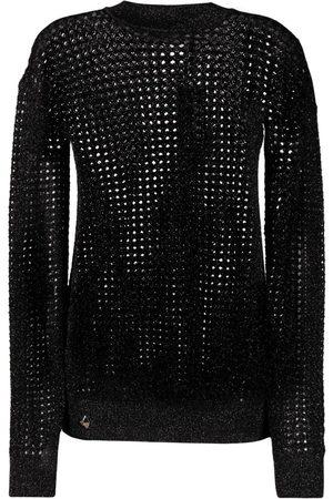 Philipp Plein Metallic-threaded mesh jumper