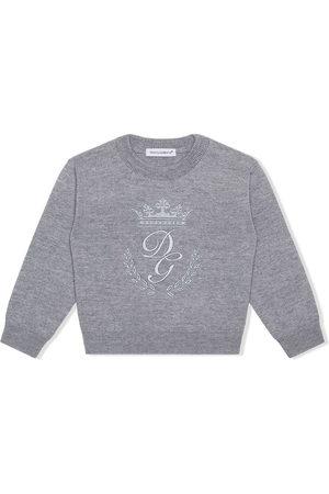 Dolce & Gabbana Jumpers - Logo-embroidered jumper