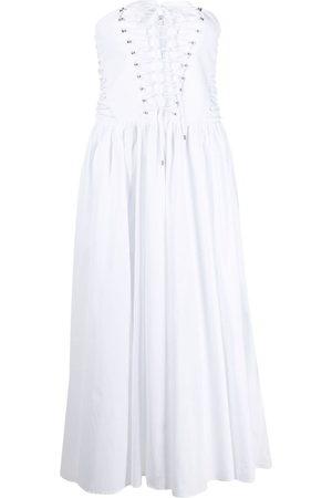 Serafini Women Midi Dresses - Strapless flared midi dress