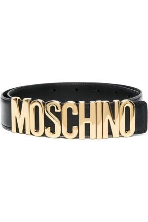 Moschino Women Belts - Logo-plaque belt