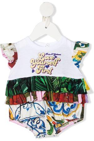 Dolce & Gabbana Baby Rompers - Ruffle-detail sleeveless romper