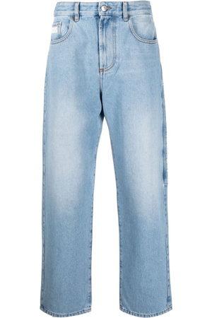 GCDS Men Straight - Logo-patch straight-leg jeans