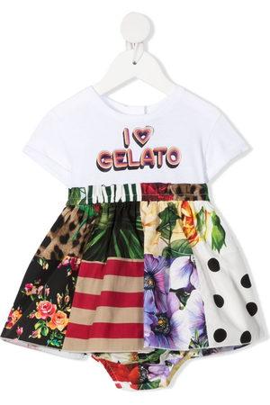 Dolce & Gabbana Baby Printed Dresses - I heart gelato-print dress