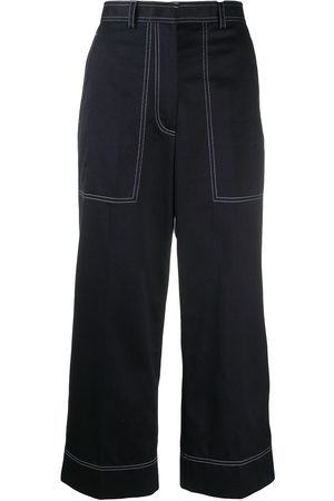 Thom Browne Women Trousers - Stitching-detail cropped trousers
