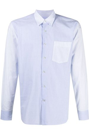Lanvin Striped contrast-panel shirt