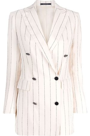 TAGLIATORE Pinstripe double breasted blazer