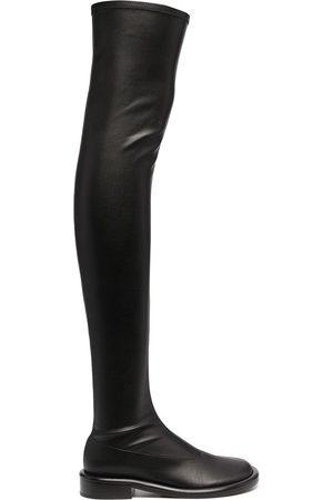 Proenza Schouler Women Boots - Ruched thigh-high boots