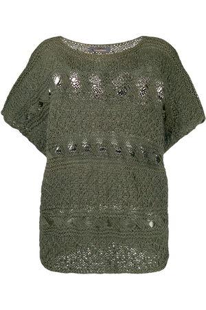 Issey Miyake Open knit blouse