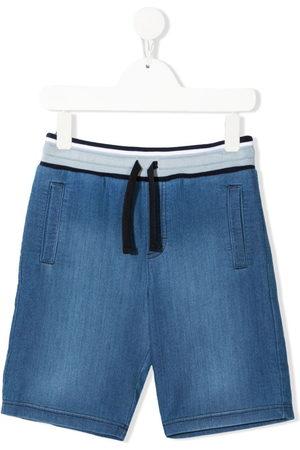 Dolce & Gabbana Boys Shorts - Drawstring denim shorts