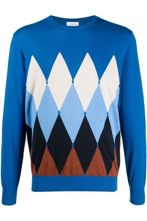 BALLANTYNE Men Jumpers - Argyle-pattern cashmere jumper