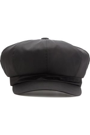 Prada Re-Nylon triangle logo newsboy cap