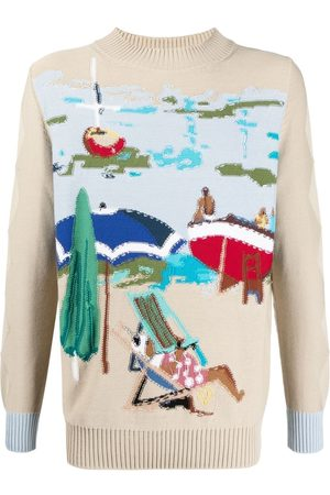 BALLANTYNE Men Jumpers - Intarsia-knit beach jumper