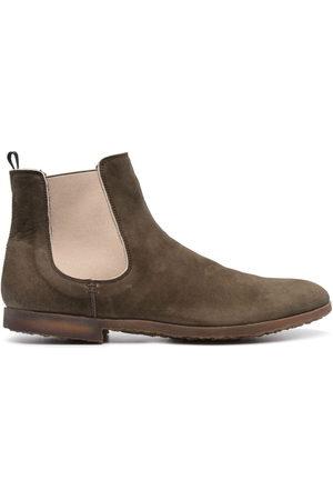 Premiata Men Boots - Panelled leather desert boots