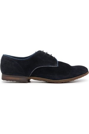 Premiata Panelled suede derby shoes