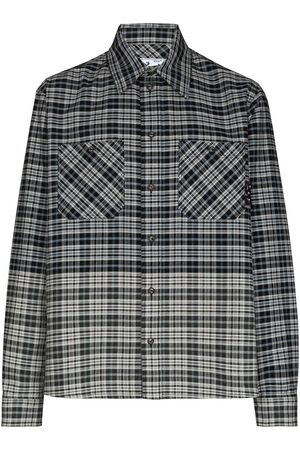 OFF-WHITE Men Casual - Spliced flannel shirt