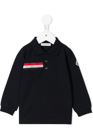 Moncler Polo Shirts - Stripe-detail polo shirt