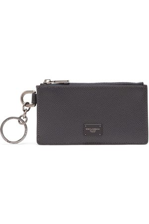 Dolce & Gabbana Men Wallets - Logo plaque zipped cardholder