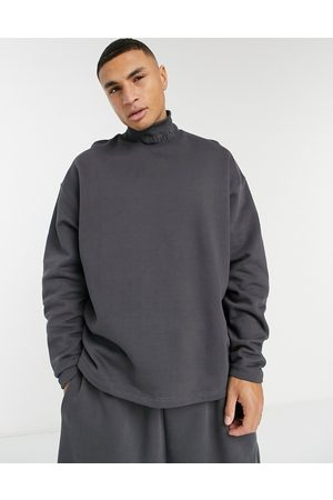 ASOS Co-ord oversized turtle neck sweatshirt in heavyweight with embroidered neck rib