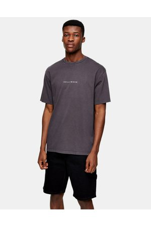 Topman Men T-shirts - Hollywood puff print t-shirt in washed