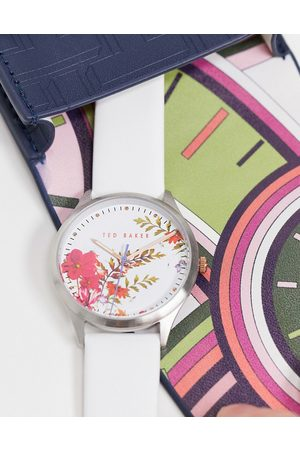 Ted Baker Printed dial watch with leather strap