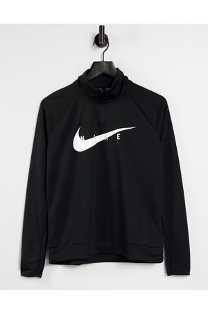 Nike Swoosh half zip mid layer top in