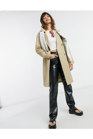 Selected Femme double breasted trench coat in beige