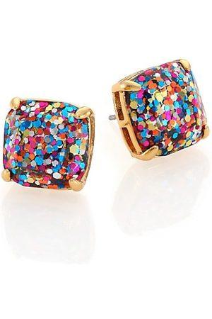 Kate Spade Earrings - Small Square Glitter Stud Earrings