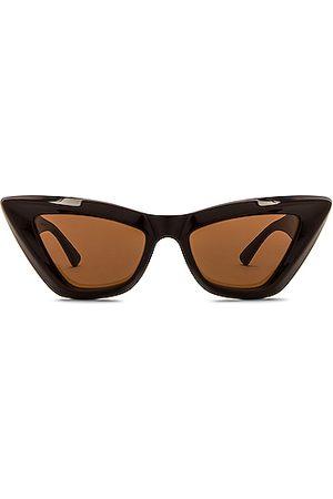 Bottega Veneta Acetate Cat Eye Sunglasses in Shiny Solid Fondant