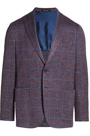 Saks Fifth Avenue Men COLLECTION Plaid Sportcoat