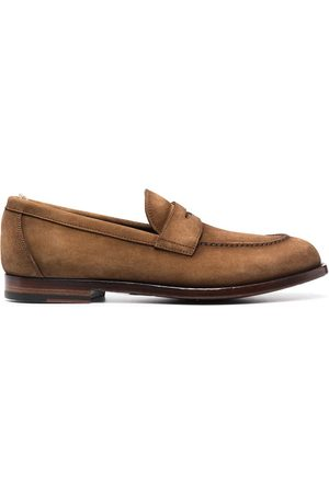 Officine creative Men Loafers - Ivy suede penny loafers