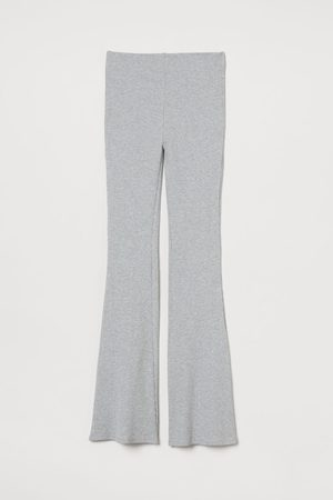 H&M Ribbed leggings - Grey