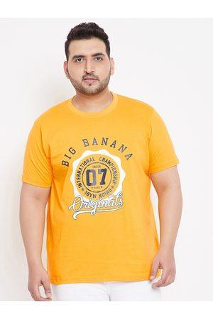 Bigbanana Men Short Sleeve - Men Yellow Printed Round Neck T-shirt