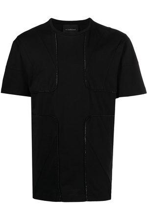 John Richmond Men Short Sleeve - Raised-seam panelled T-shirt