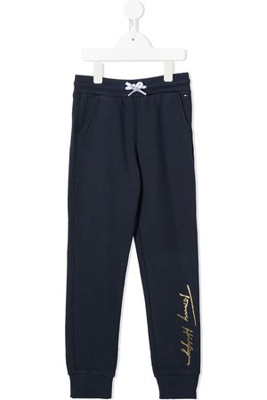 Tommy Hilfiger Girls Trousers - Cotton signature-logo track pants