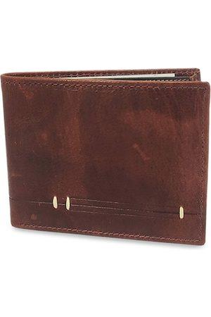 WENZEST Men Brown Solid Two Fold Wallet Br3Tanka_01
