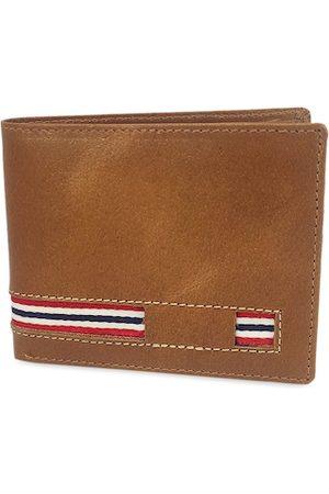 WENZEST Men Tan Solid Two Fold Wallet