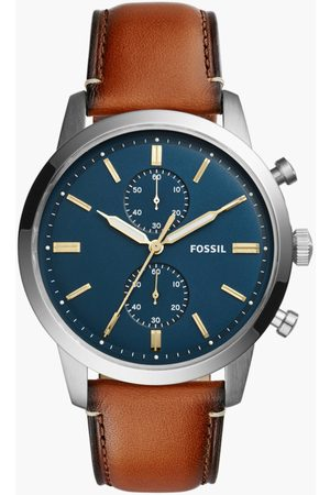 Fossil Men Multifunction Watch with Leather Strap - FS5279