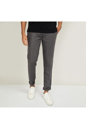 Celio Men Solid Slim Tapered Fit Trousers