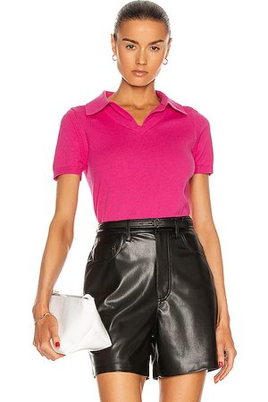 Victor Glemaud Polo Top in Rose