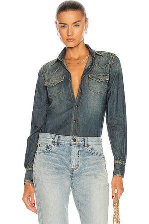 Saint Laurent Classic Western Shirt in Deep Vintage