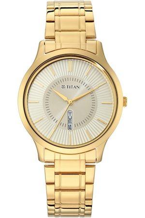 Titan Men Watches - Men Yellow Analogue Watch 1845YM01